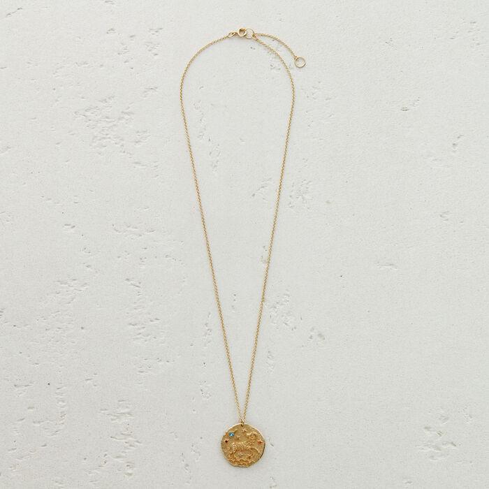 Collar de signo del Zodíaco Aries : Medallones color OR