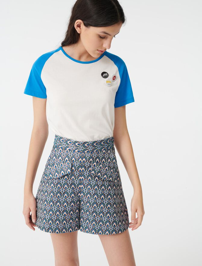 Short de jacquard lúrex - Faldas y shorts - MAJE
