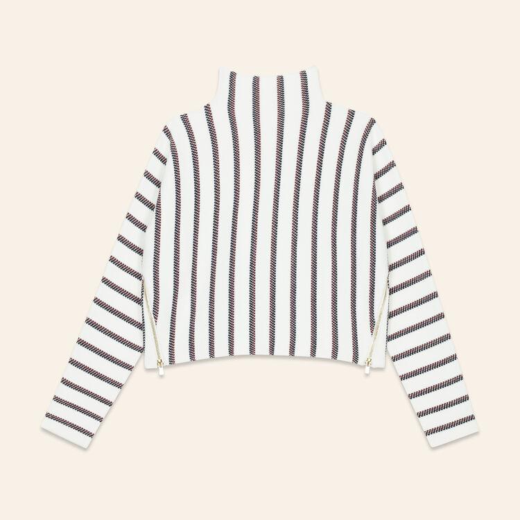 Jersey corto de punto cerrado : Jerseys y cárdigans color Crudo