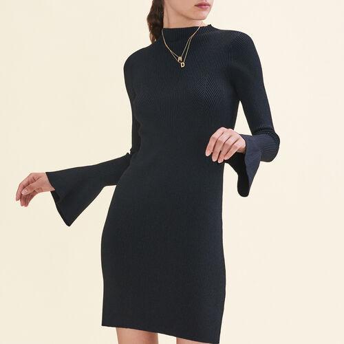 Vestido de punto lúrex : Vestidos color Negro