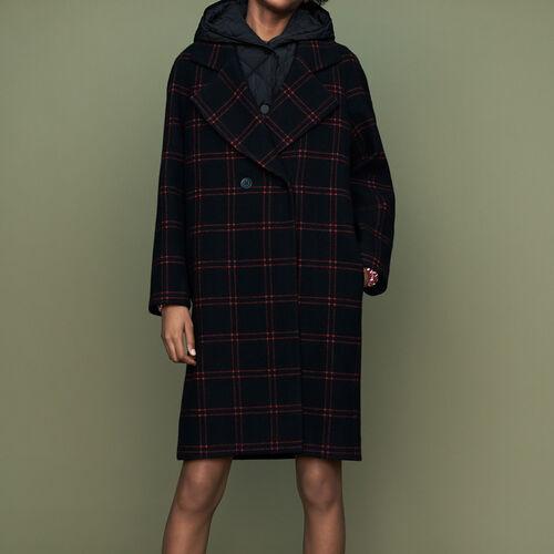 Abrigo de cuadros con chaleco : Abrigos color CARREAUX