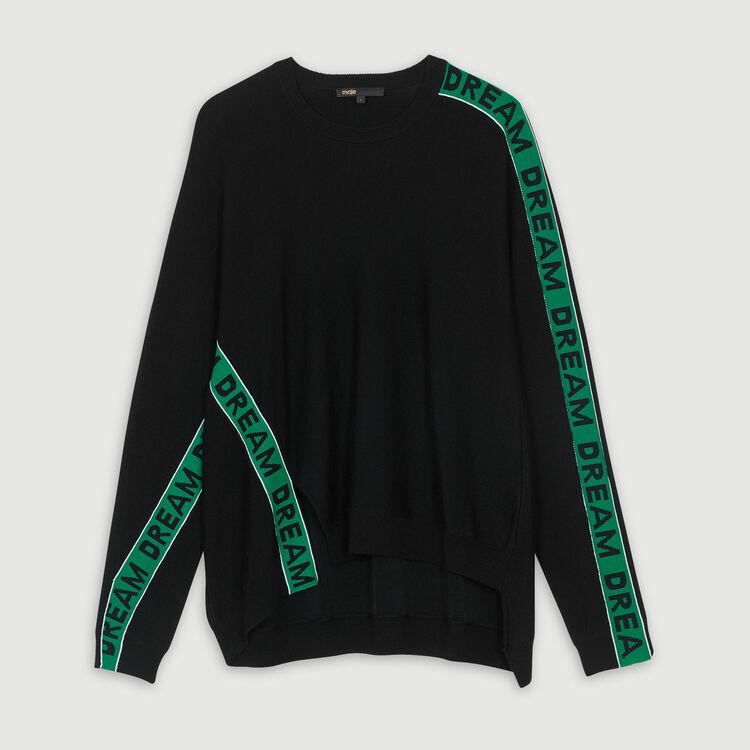Jersey oversize con texto : Prêt-à-porter color Negro
