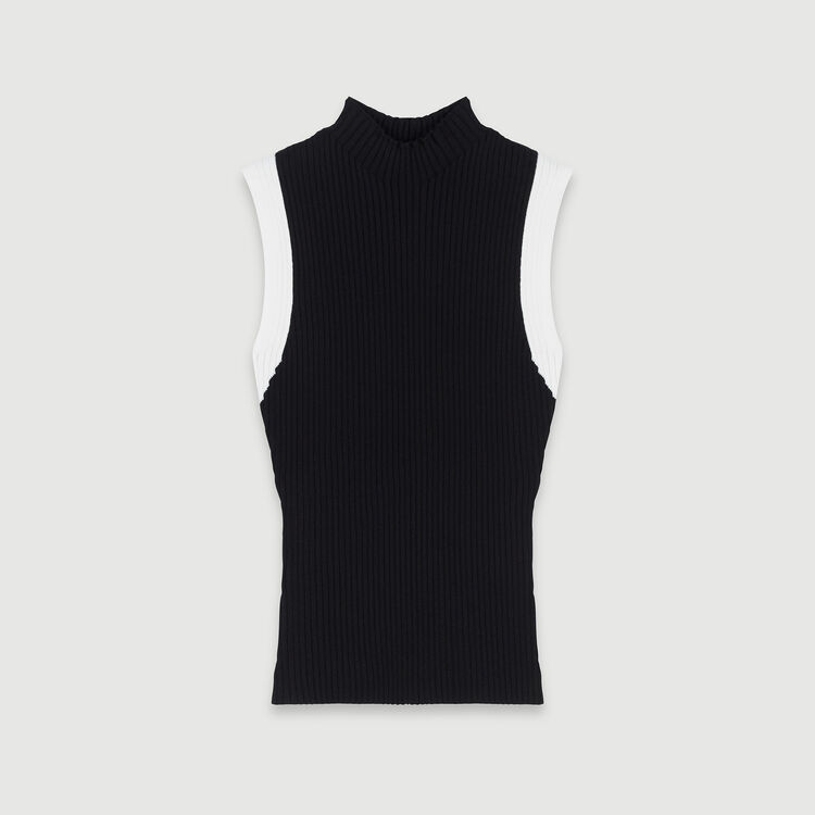 Jersey sin mangas canale a contraste : Jerseys y cárdigans color Negro