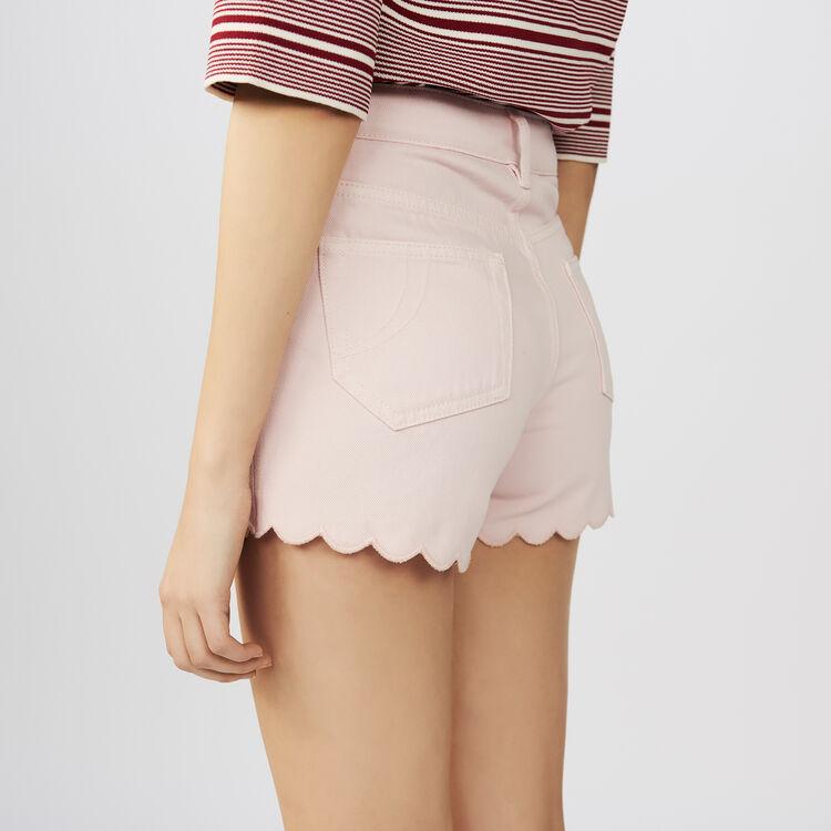 Denim short : Faldas y shorts color Rosa