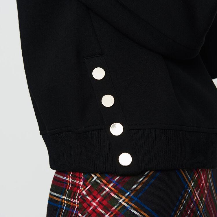 Sudadera con bordados en la espalda : Nueva Colección color Negro