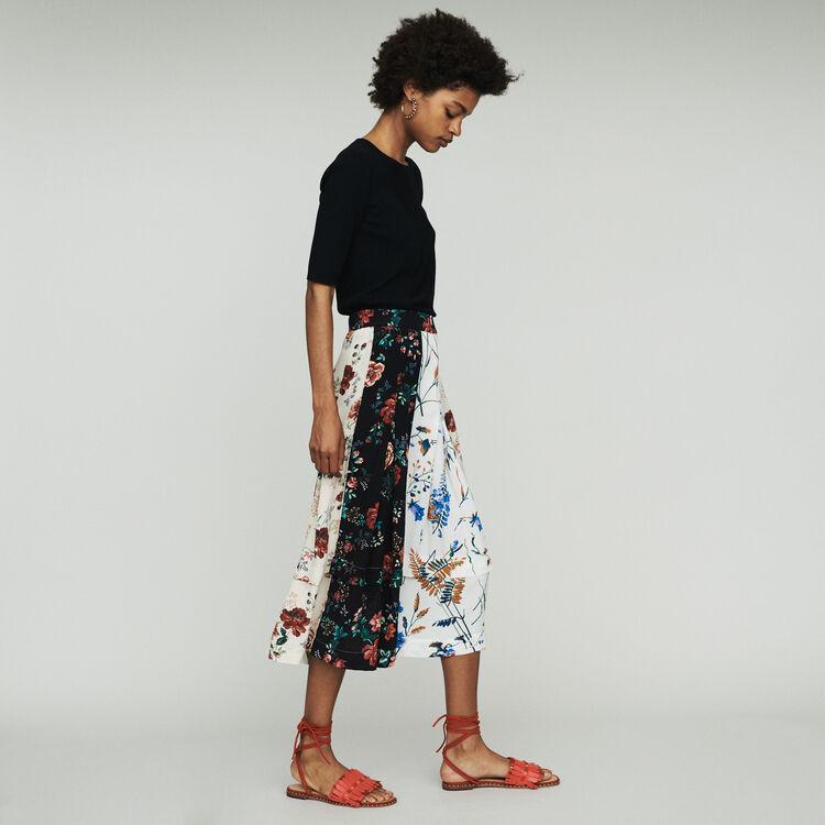 Falda midi estampada : Faldas y shorts color Estampado