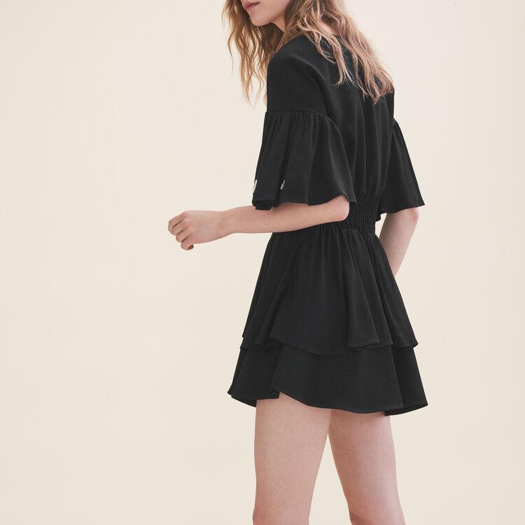 Vestido vaporoso con ojales : Vestidos color Negro