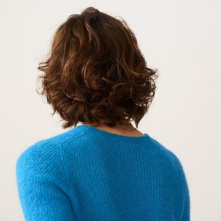 Jersey corto en mohair : Malla color Azul