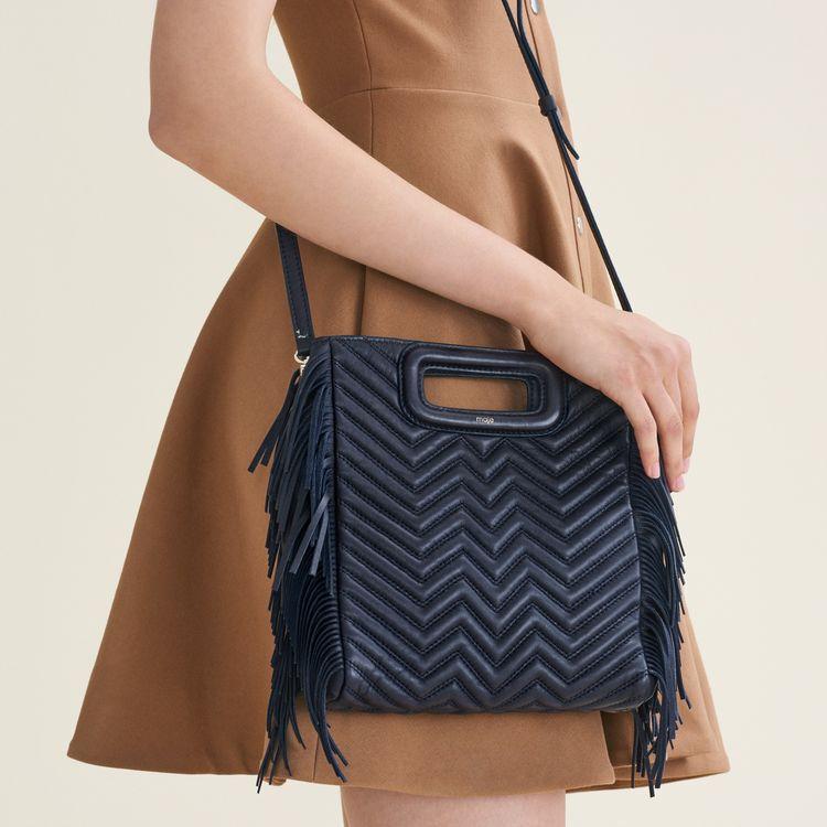 Bolso M de piel acolchada : Bolsos M color Azul Marino