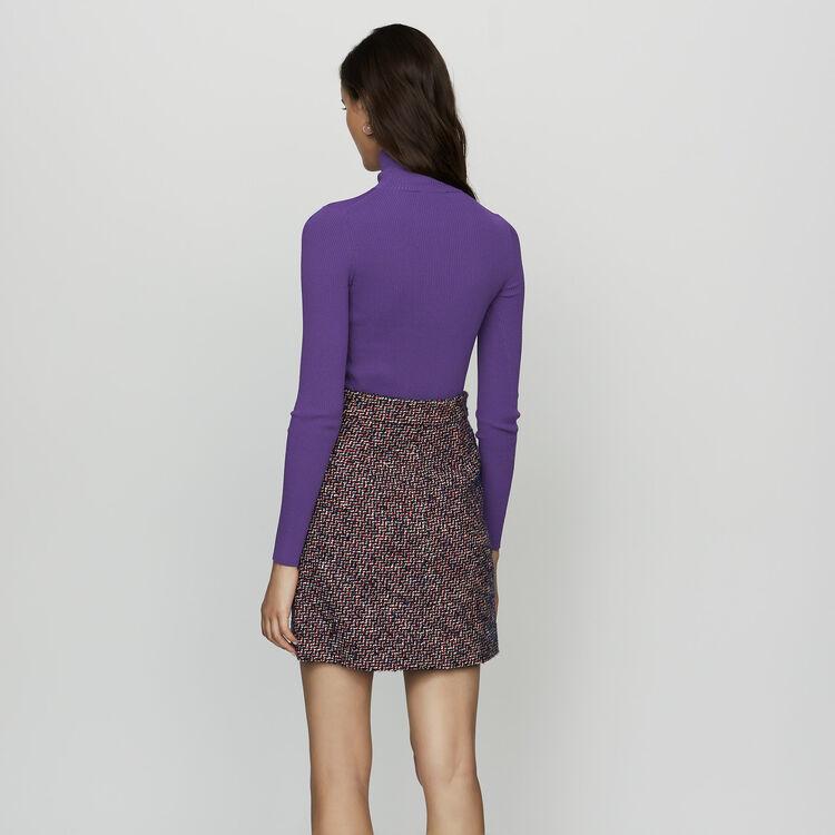 Falda corta de tweed : Faldas y shorts color Jacquard
