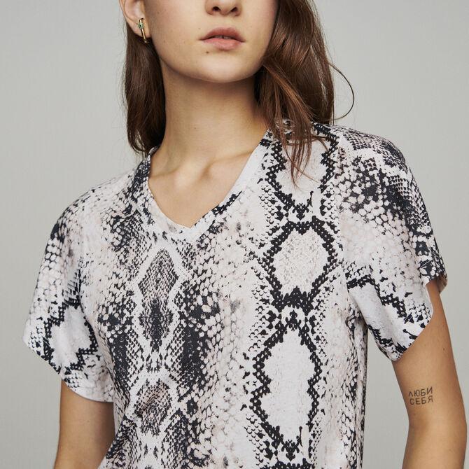 Camiseta con estampado pitón - Ver todo - MAJE