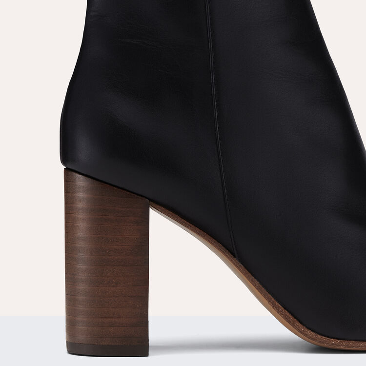Stiefeletten aus Leder : Accesorios color Negro