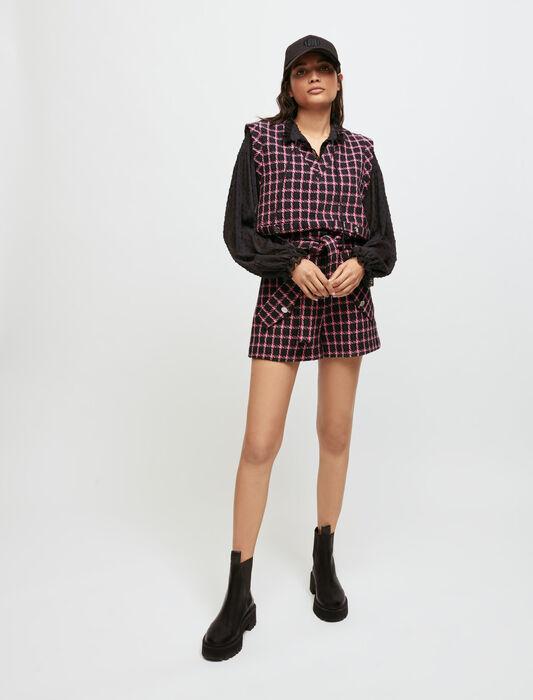 Chaleco de cuadros : Tops y Camisas color Fucsia