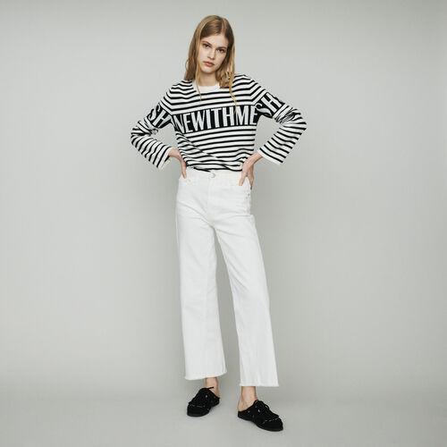 Jean ancho tiro alto : Pantalones y Jeans color Rojo