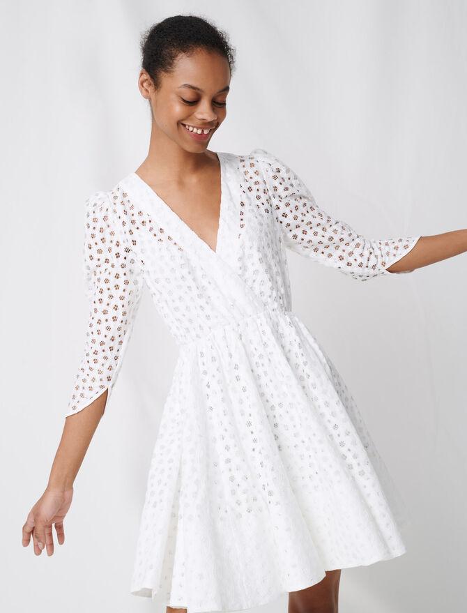 Vestido de encaje blanco - Vestidos - MAJE