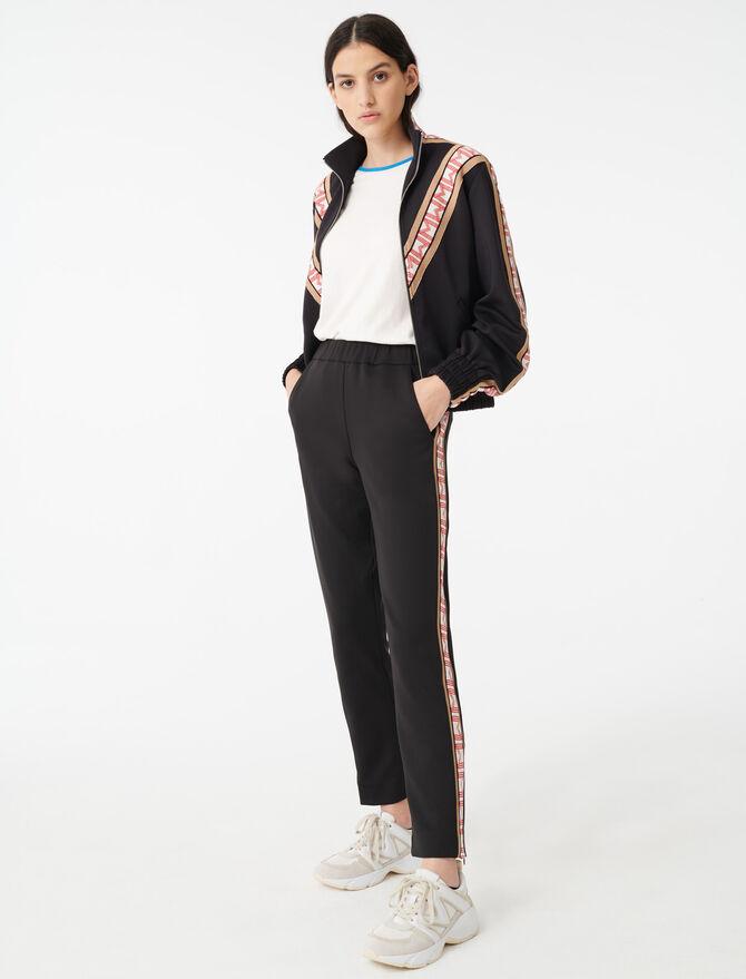 Pantalón tipo chándal con bandas - Pantalones y Jeans - MAJE