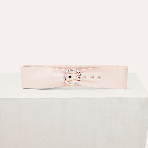 Cinturón ancho de piel : Accesorios color Rosa Claro
