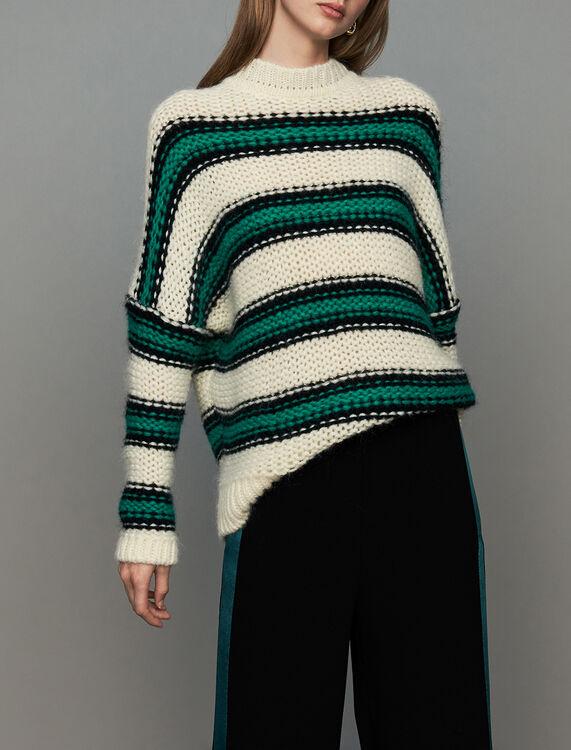 Jersey oversize de punto tricolor : Nueva Colección color Verde