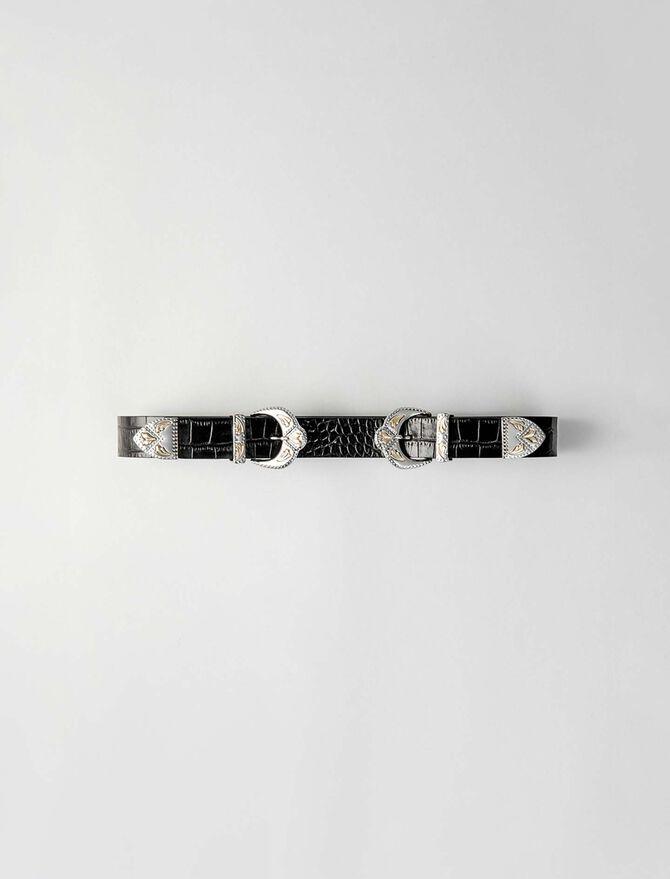 Cinturón de hebilla doble western - Cinturones - MAJE
