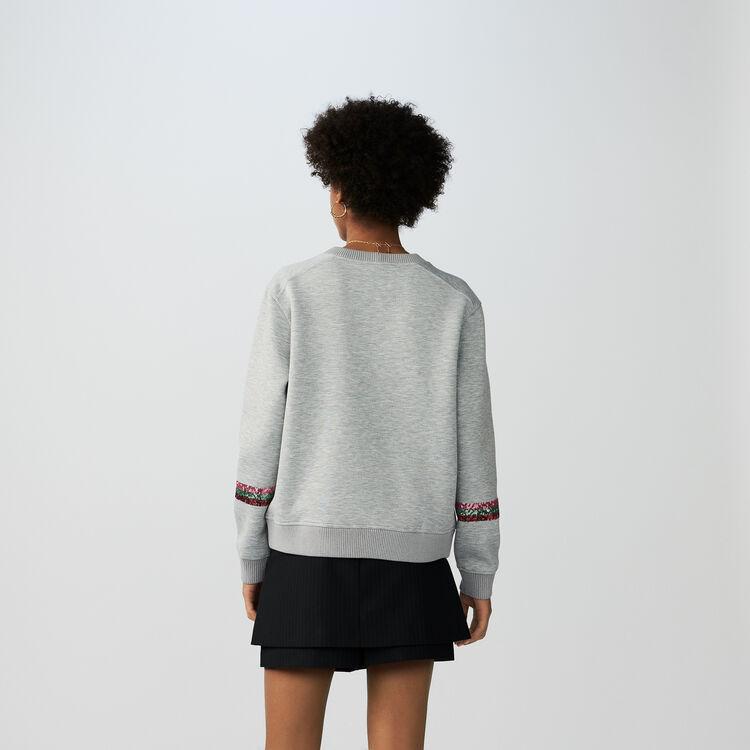 Sudadera de algodón : Malla color Gris