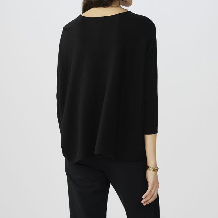 Jersey oversize de seda y cachemira : staff private sale color Negro