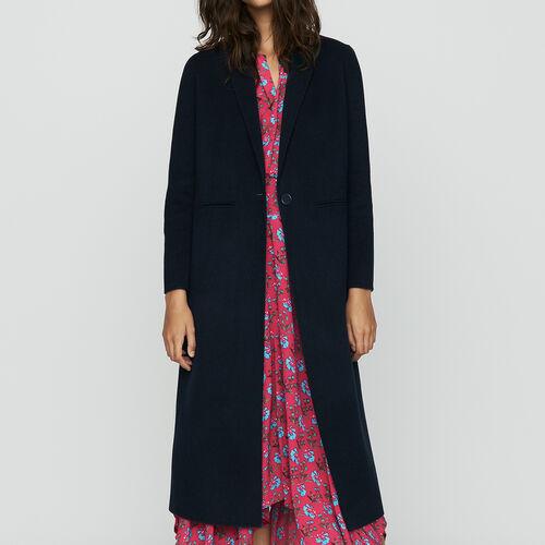 Abrigo largo de lana doble faz : Prêt-à-porter color VERT