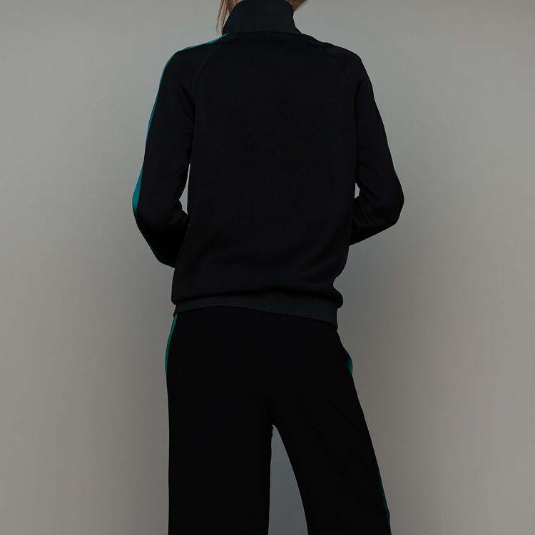 Chaqueta estilo sportswear bicolor : Chaquetas color Negro