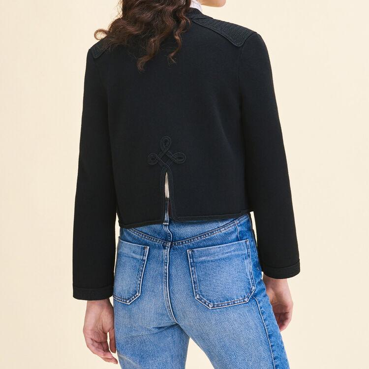 Cárdigan con pasamanería : Jerseys y cárdigans color Negro