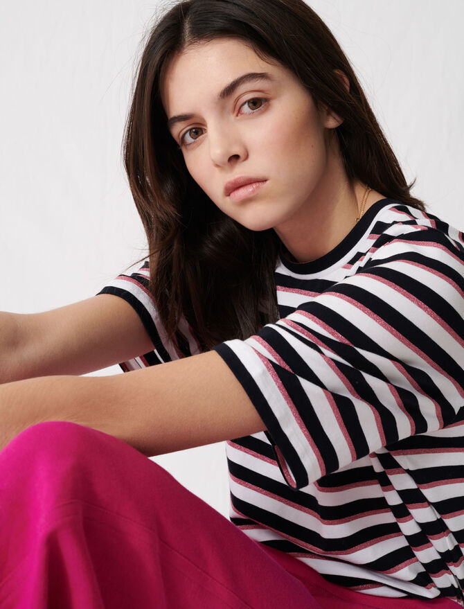 Camiseta de rayas tricolores - T-Shirts - MAJE