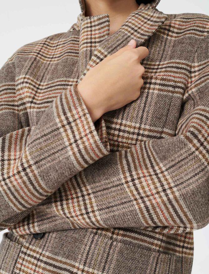 Abrigo tipo chaqueta de cuadros - Chaquetas - MAJE