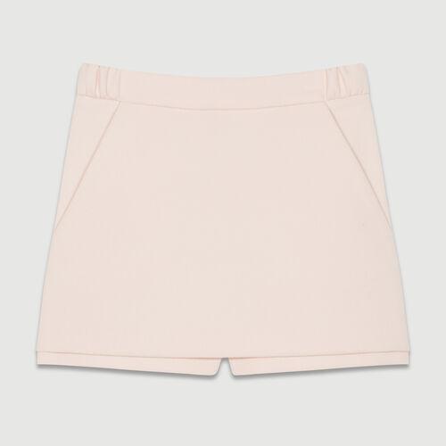 Short 2 en 1 de crepé : Faldas y shorts color Rosa