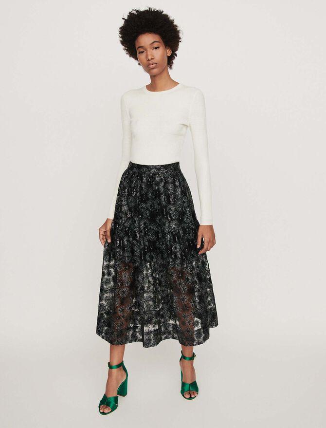 Falda de tul bordada de lentejuelas - Faldas y shorts - MAJE