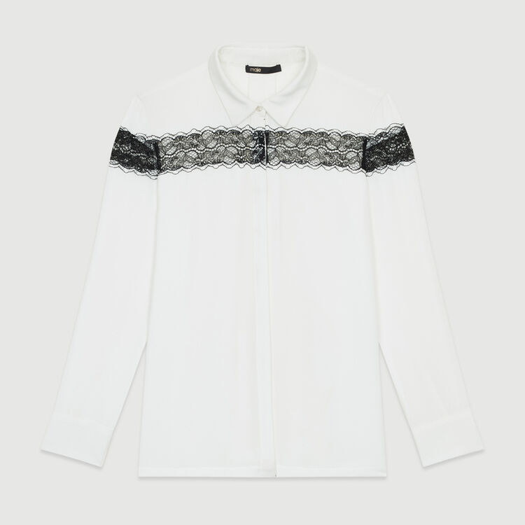 Blusa con encaje : Nueva Colección color Crudo
