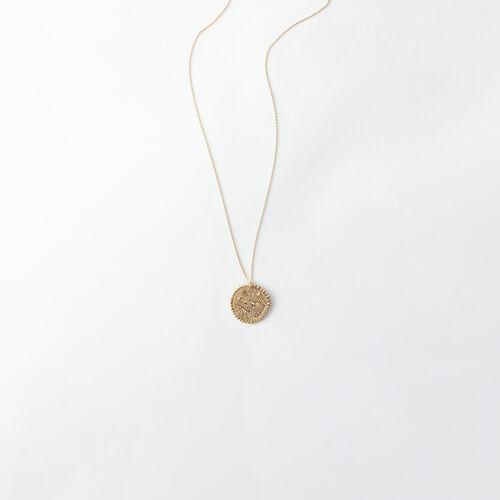 Collar de signo del Zodíaco Piscis : Todos los accesorios color Latón Envejecido
