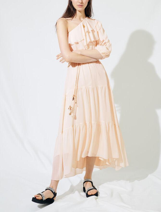 Asymmetrical muslin dress - Vestidos - MAJE