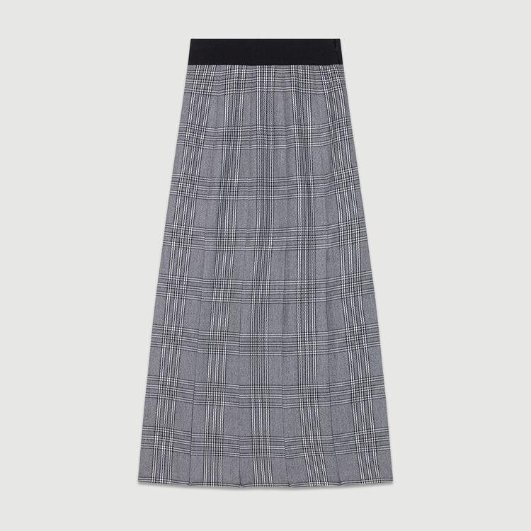 Falda larga Principe de Galle con cortes : Faldas y shorts color CARREAUX