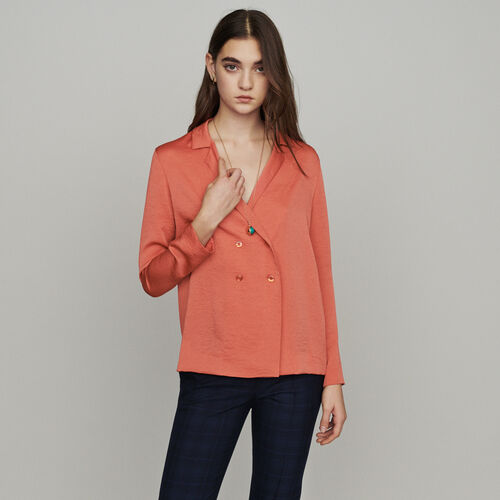 Blusa tipo blazer : Tops y Camisas color Coral