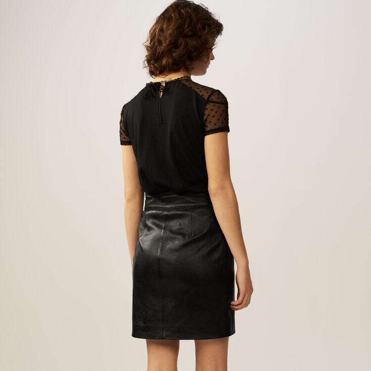 Camiseta con incrustaciones plumetis : Iconic revisited color Negro