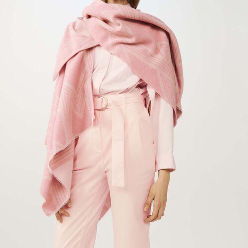 Poncho estampado M : Pañuelos & Ponchos color Rosa