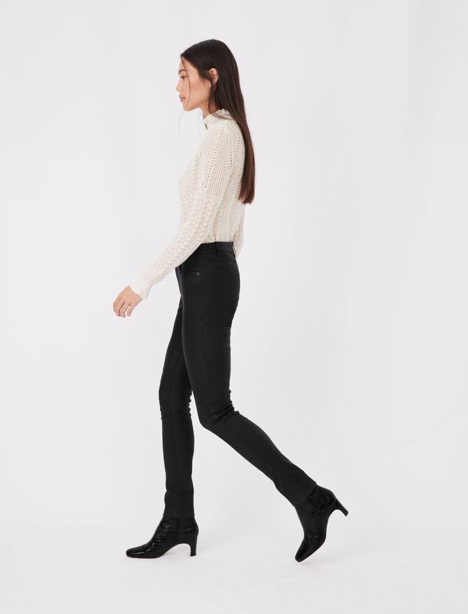 Pantalon cigarette en cuir d'agneau - Pantalones y Jeans - MAJE