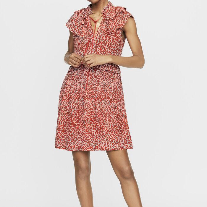 Vestido sin mangas estampado leopardo : Vestidos color IMPRIME