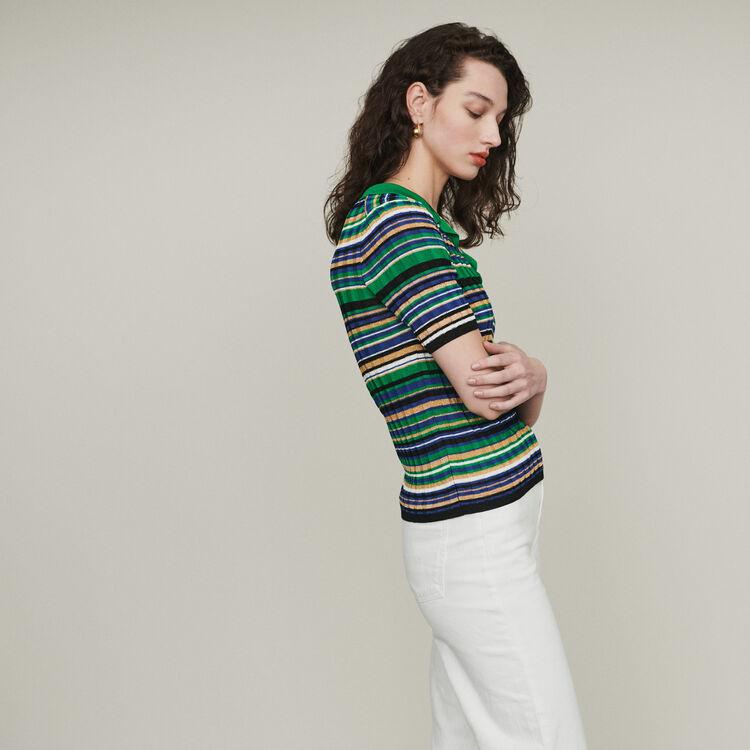 Polo de punto rayado : Jerseys y cárdigans color Multicolor