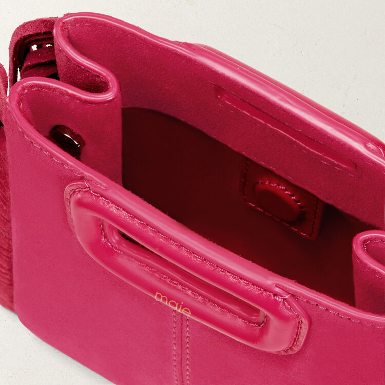 M minibolso de ante con flecos : Vente privée personnel color Rosa