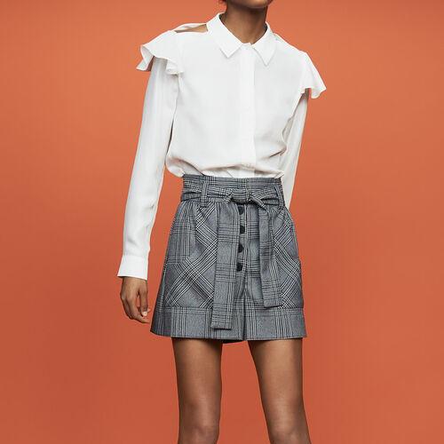 Blusa de seda avolantada : Prêt-à-porter color Blanco