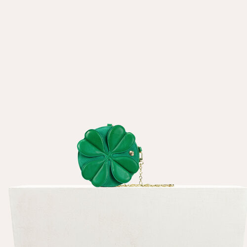 Bolso pequeño trébol y bandolera cadena : Bolsas Star color Verde