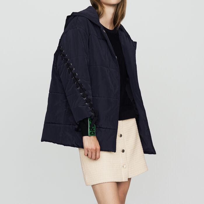 Chaqueta de plumón con cordón : Abrigos color Azul Marino