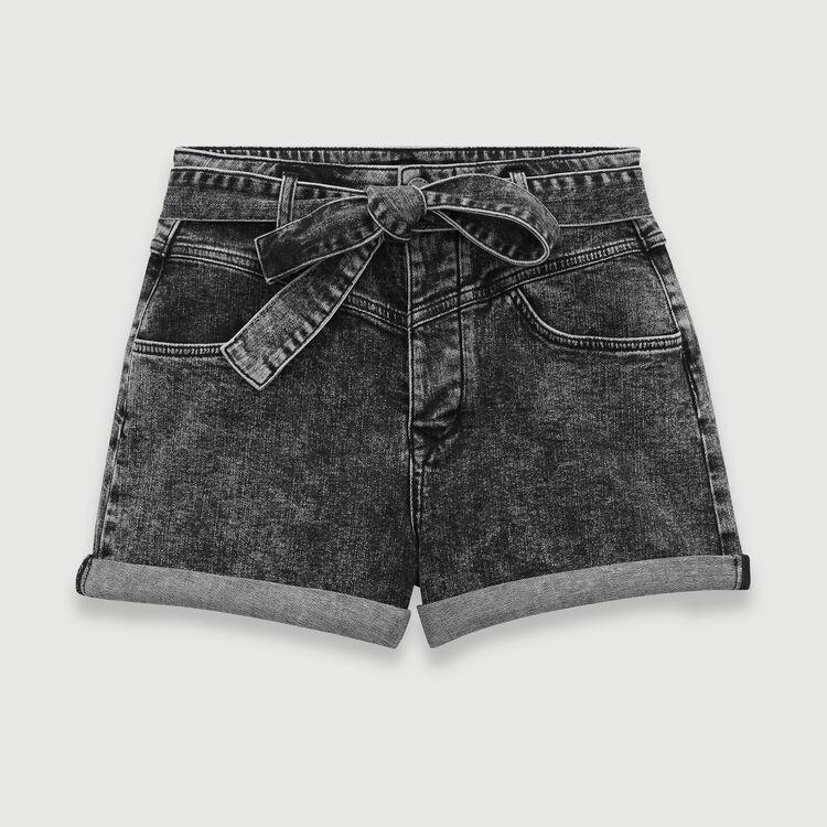Short desteñido ceñido : Faldas y shorts color Antracita