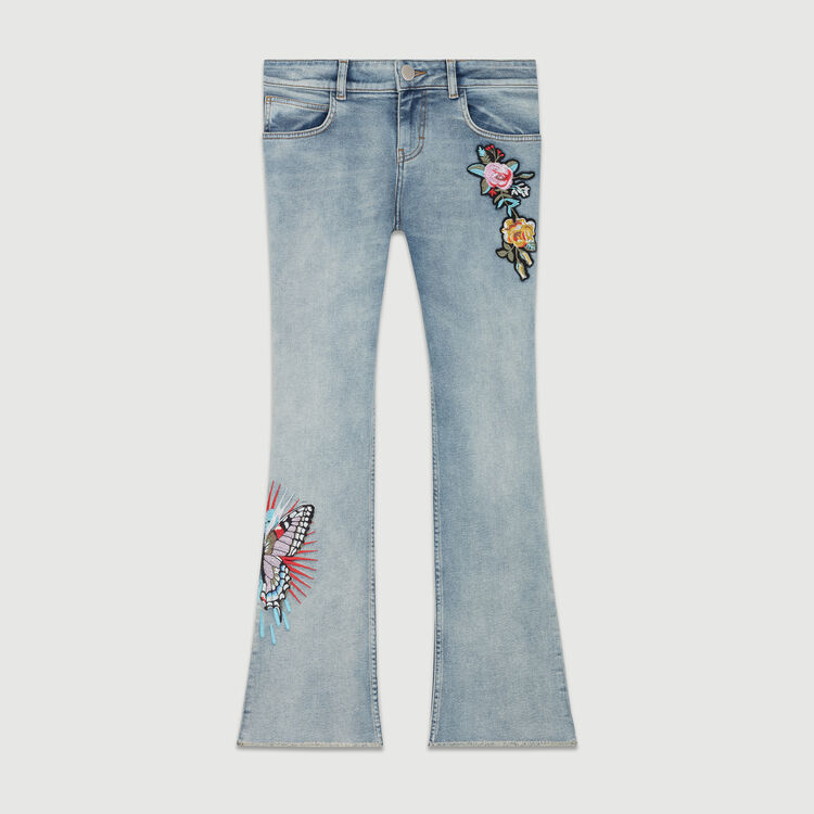 Baquero evase con bordados : Le denim color Denim