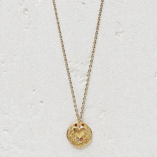 "Necklace with medallion ""Mon coeur"" : Bisuteria color OR"