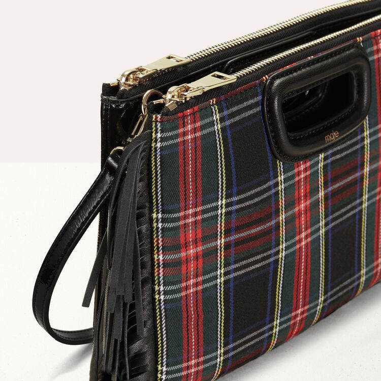Cartera M Duo en charol de tartan : M Duo color Negro